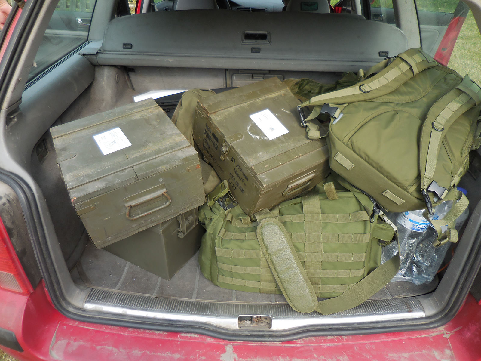 Lots of gear to hump to the range